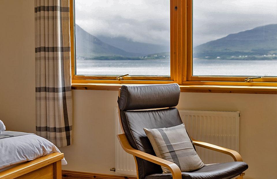 Allt Arais Bed & Breakfast Double Bedroom with Isle of Skye View
